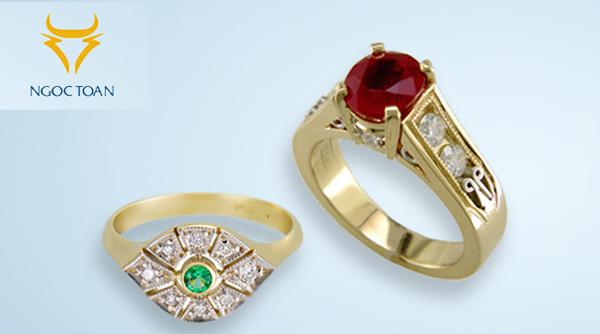 Thiết kế thương hiệu cho chuỗi showroom vàng bạc Ngọc Toàn