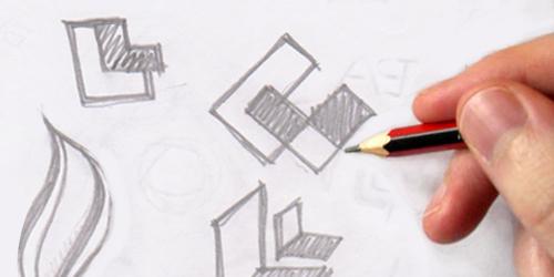 Phác thảo phương án thiết kế logo