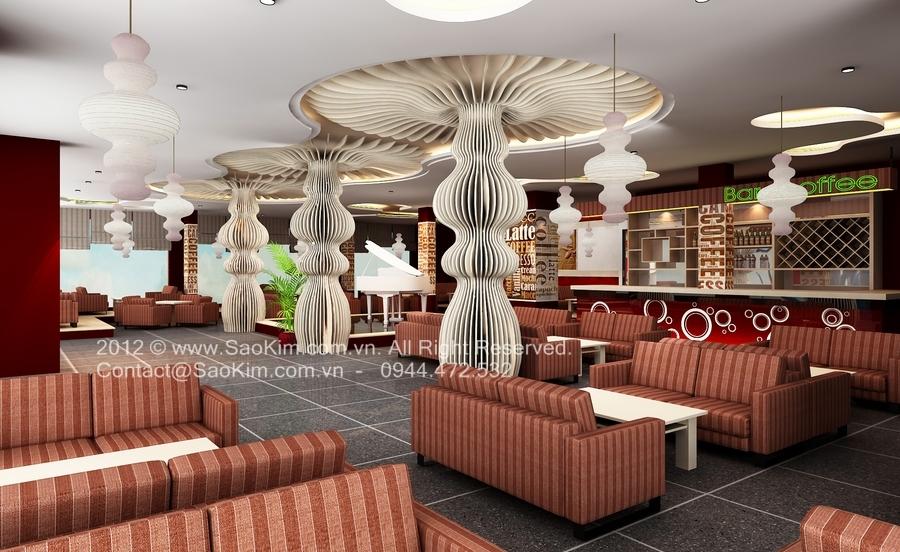 Ý tưởng thiết kế quán cafe Paradise
