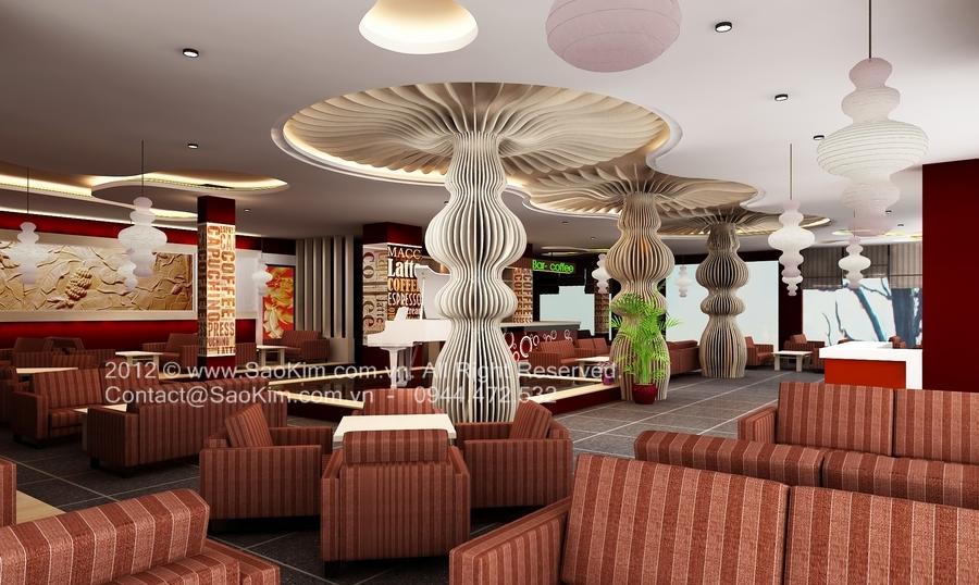 Phối cảnh thiết kế quán cafe Paradise