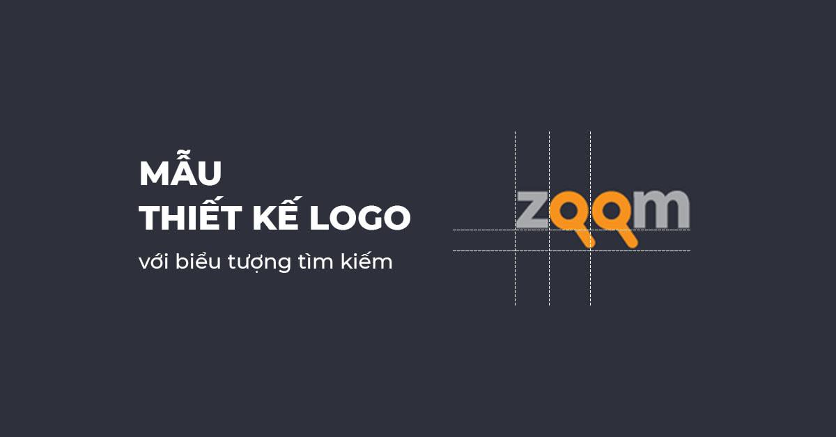 Mẫu thiết kế Logo với biểu tượng tìm kiếm sáng tạo