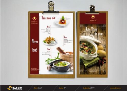 Ấn phẩm quảng cáo nhà hàng