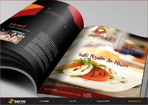 Thiết kế brochure nhà hàng