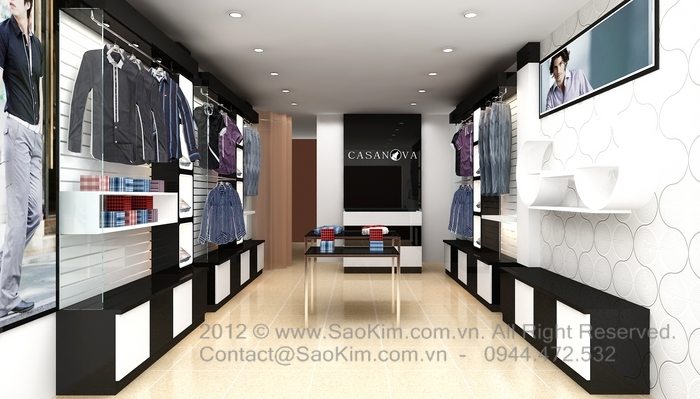 Thiết kế showroom thời trang Casanova