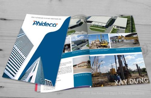 Dự án Sao Kim thực hiện: Thiết kế profile công ty Phideco
