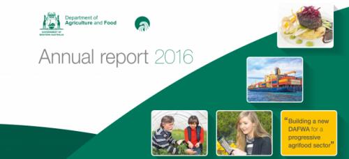 DAFWA Annual report 2016 - cover