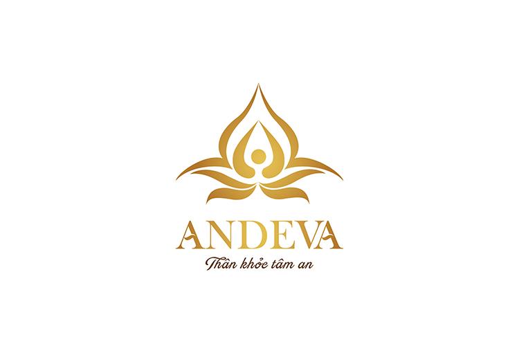 Spa Andeva do Sao Kim đặt tên thương hiệu và thiết kế logo.