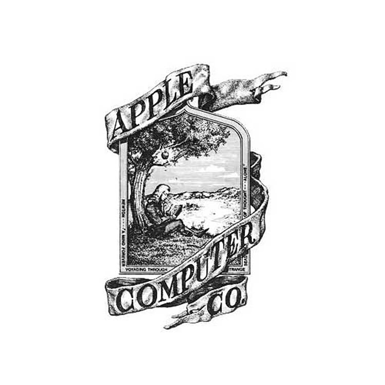 Mẫu thiết kế logo Apple năm 1976.