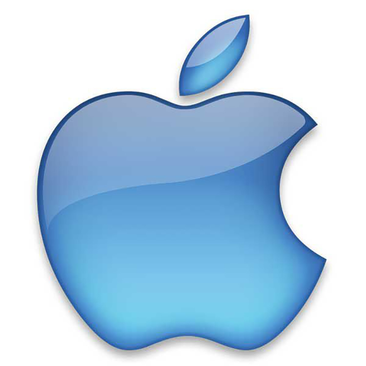Mẫu thiết kế logo Apple năm 2001.