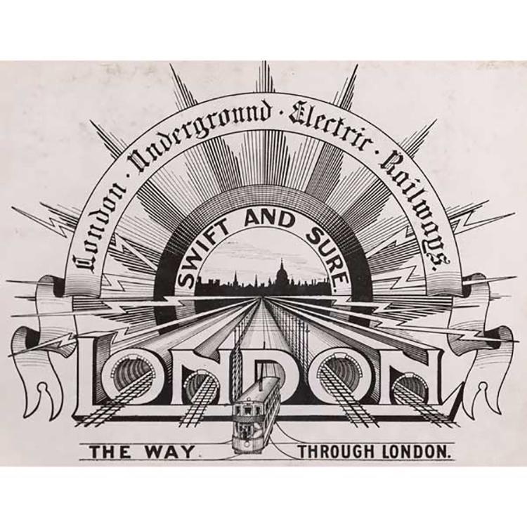 Mẫu thiết kế London Underground năm 1908.