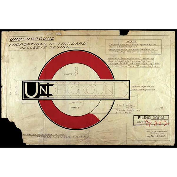 Mẫu thiết kế London Underground năm 1916.