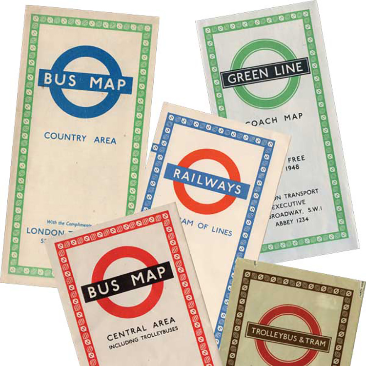 Mẫu thiết kế London Underground năm 1948.