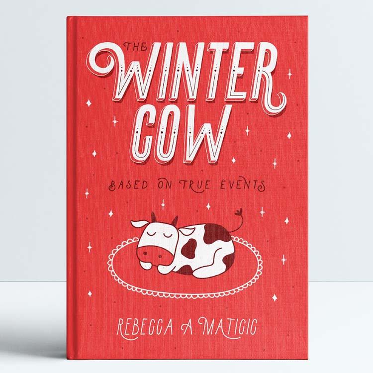 Bìa sách mùa đông và lễ hội sử dụng màu đỏ.