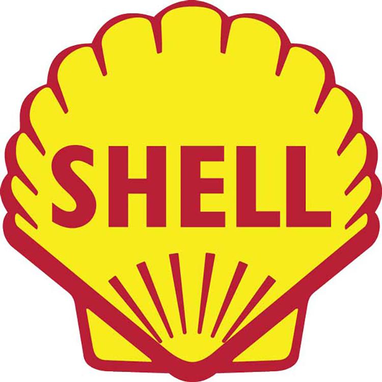 Mẫu thiết kế logo của Shell năm 1955.