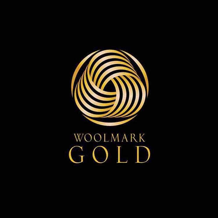Logo Woolmark Gold.
