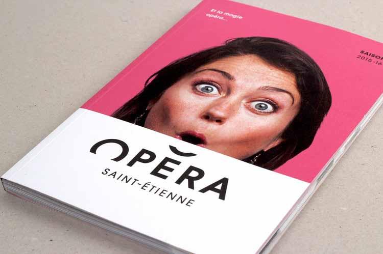 Thiết kế catalogue của sự kiện Saint Etienne Opera House.