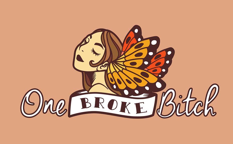 Thiết kế logo nữ tính.