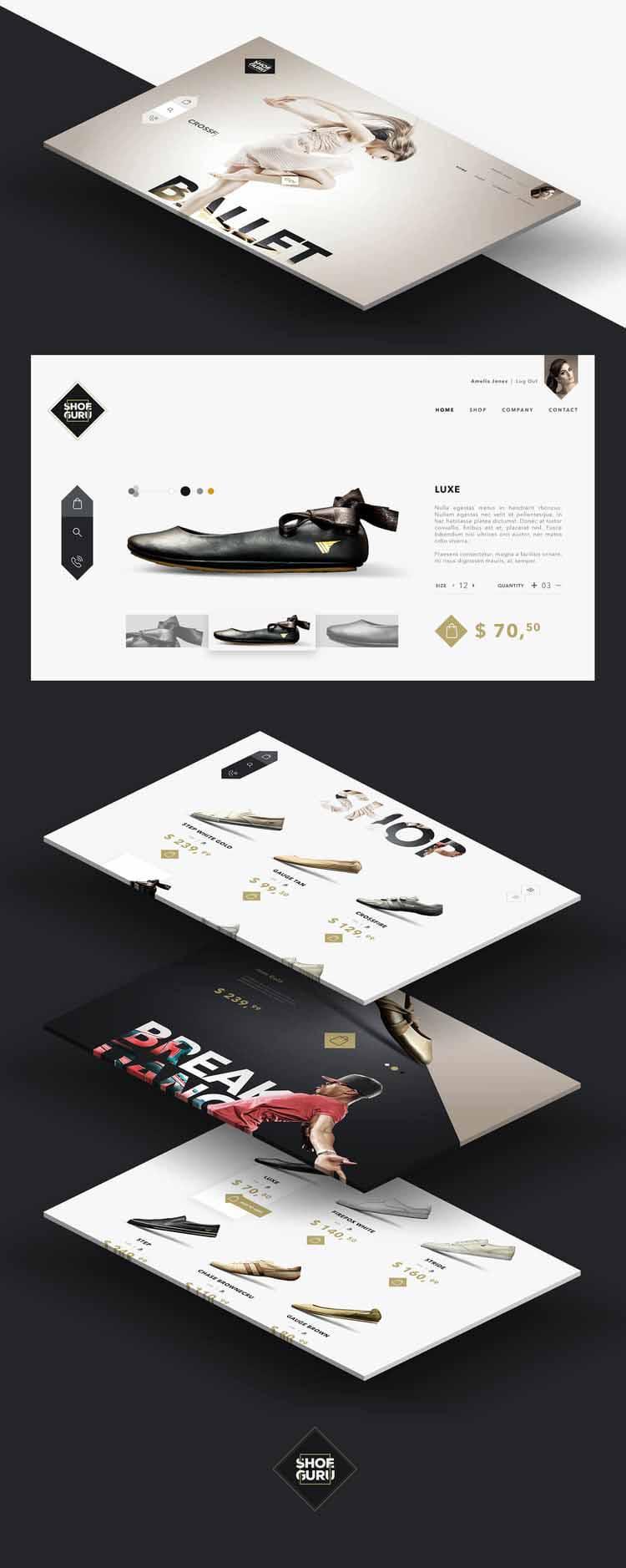 Thiết kế catalogue của Shoe Guru.