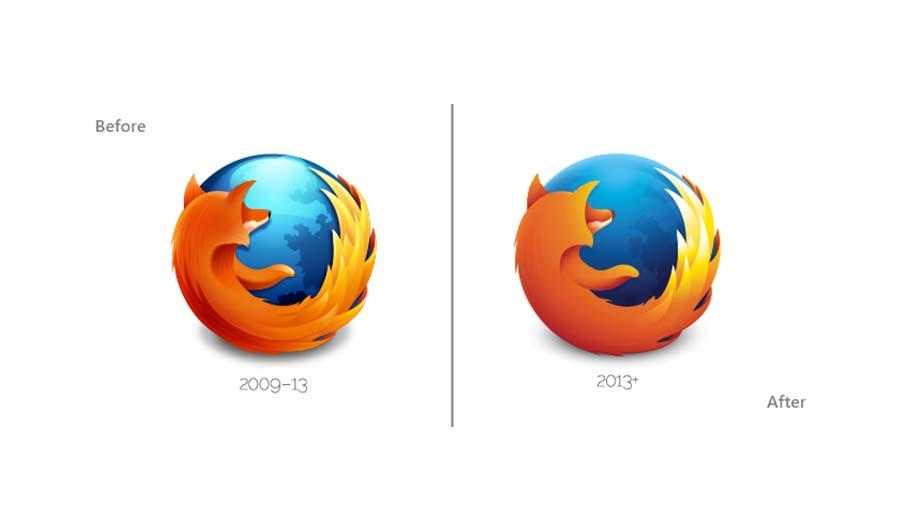 Thiết kế logo của firefox.