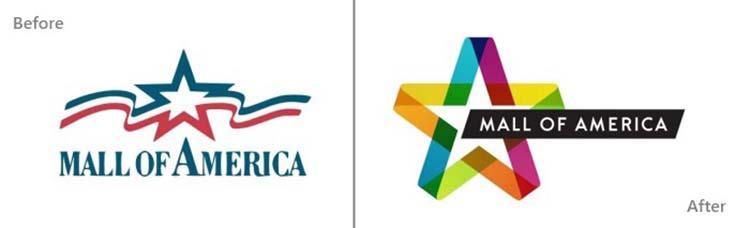 Thiết kế logo của Mall of America.