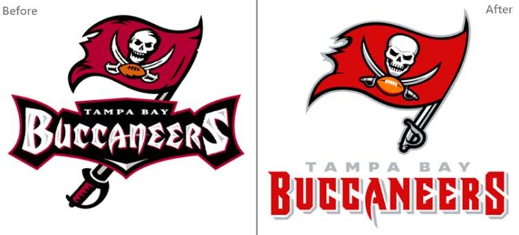 Thiết kế logo của Tampa Bay Buccaneers.