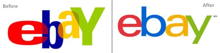 Thiết kế logo của eBay.
