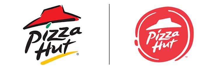 Thiết kế logo của Pizza Hut.