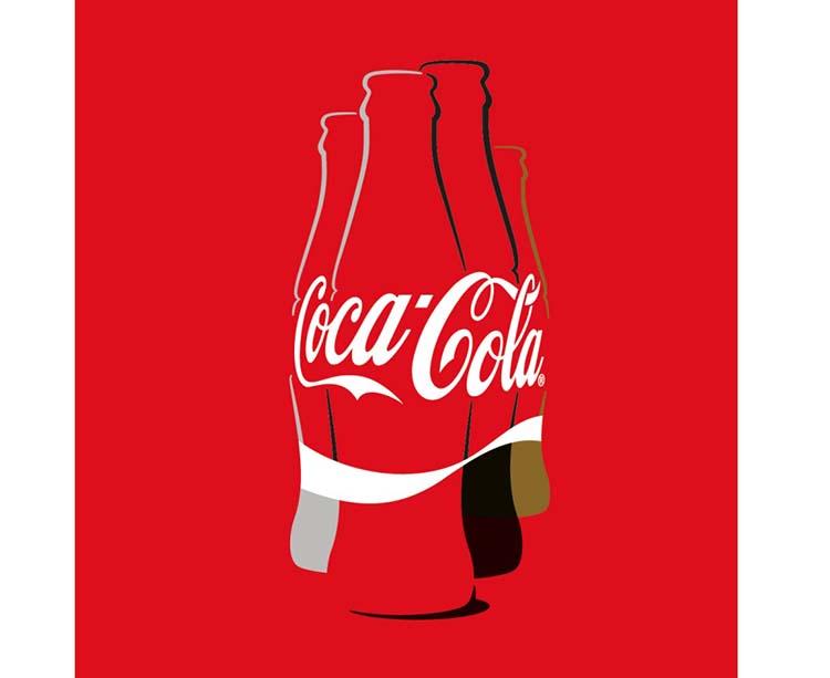 Thiết kế logo của coca-cola.
