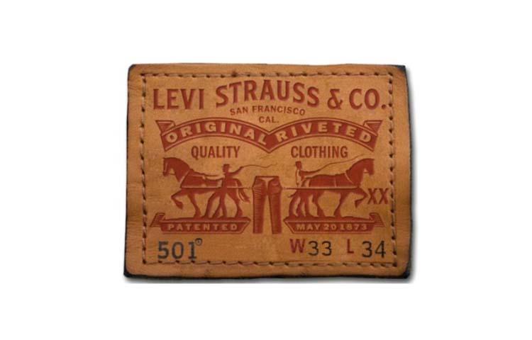 Thiết kế logo của Levi Strauss jeans.