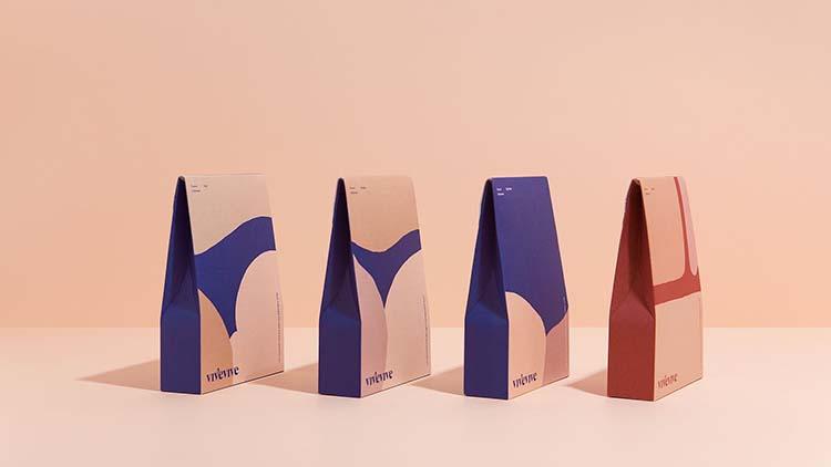 Thiết kế bao bì lấy cảm hứng từ cơ thể và nghệ thuật của thương hiệu đồ lót phụ nữ Vivevive.