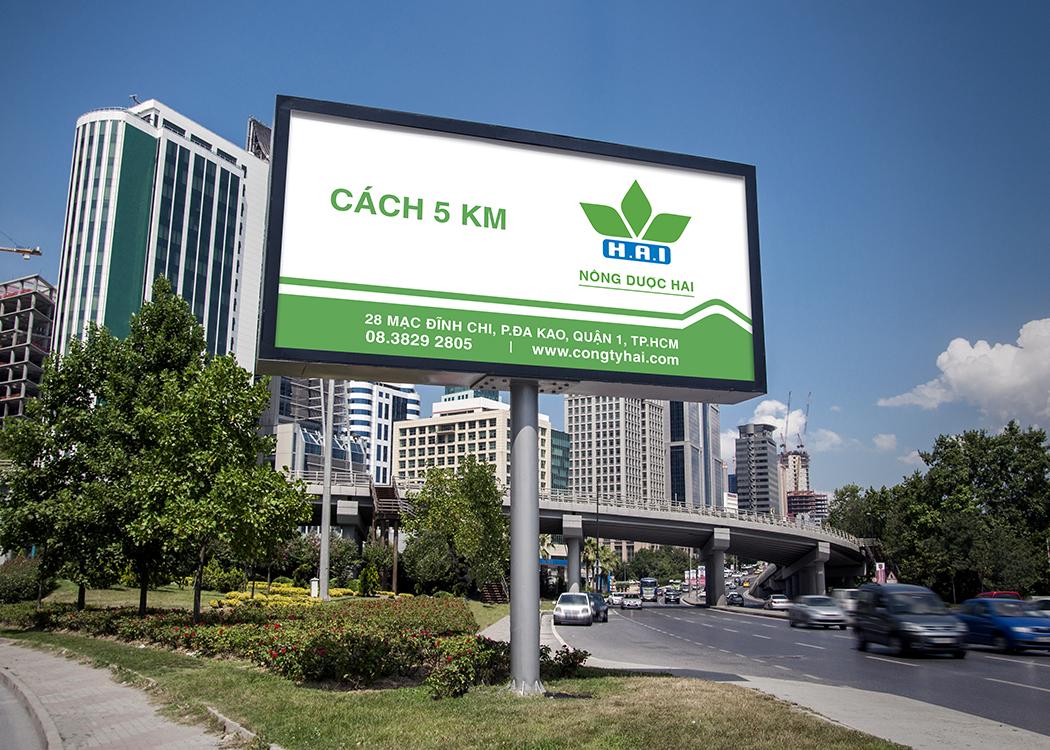 [Saokim.com.vn] Biển quảng cáo ngoài trời của thương hiệu Nông dược HAI