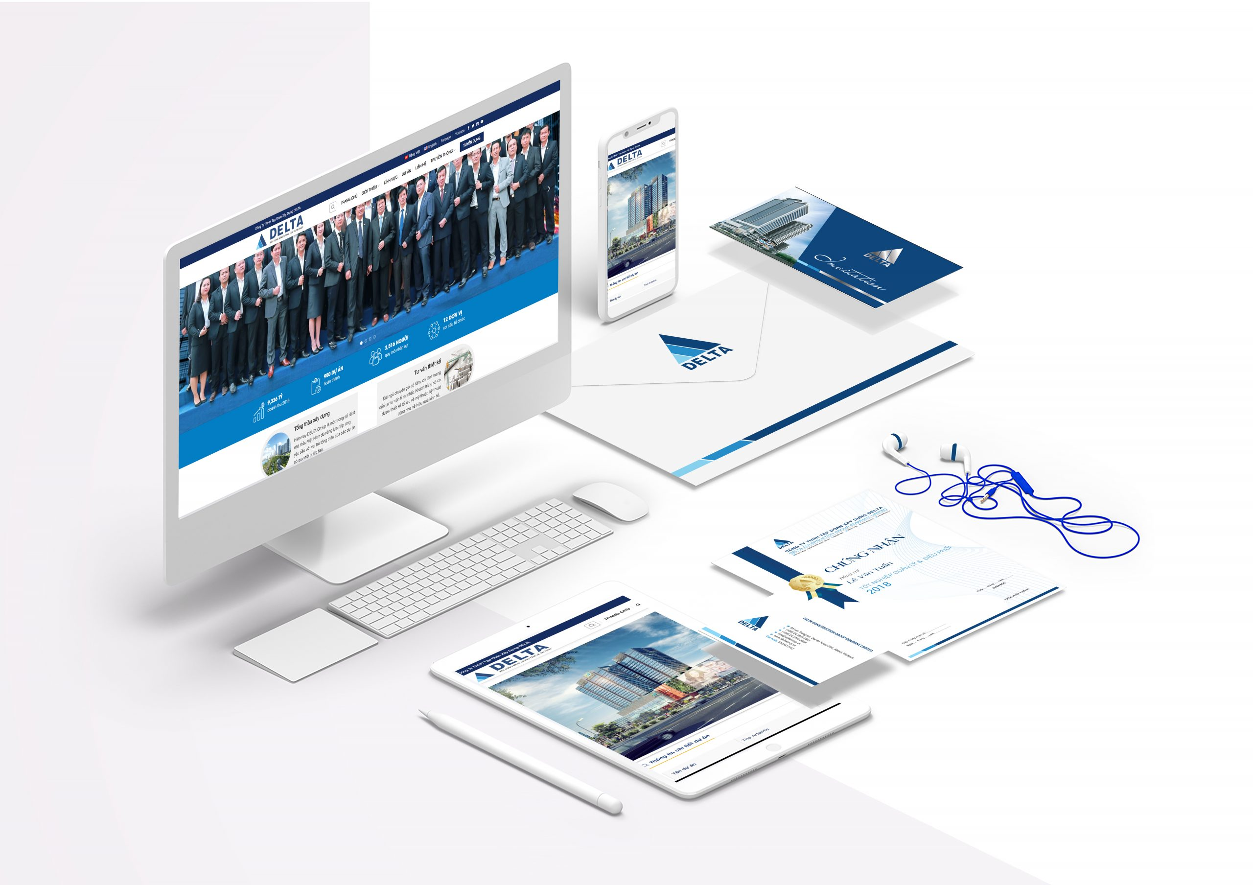 [Saokim.com.vn] Bộ nhận diện văn phòng của thương hiệu DELTA