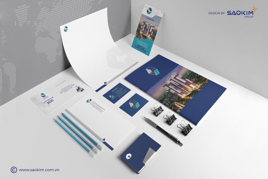 Ấn phẩm nhận diện thương hiệu do Sao Kim thiết kế