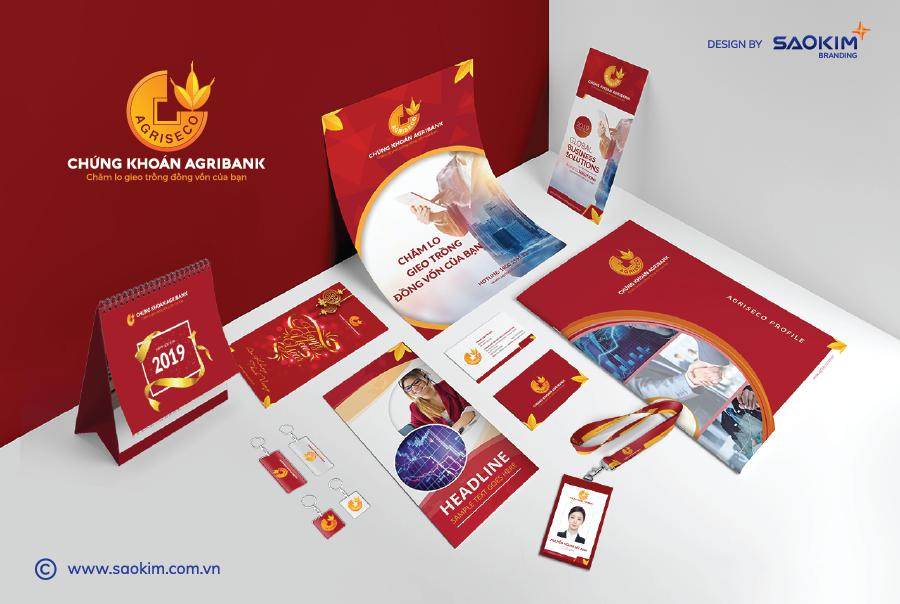 [Saokim.com.vn] Nhận diện thương hiệu của chứng khoán Agribank do Sao Kim thiết kế