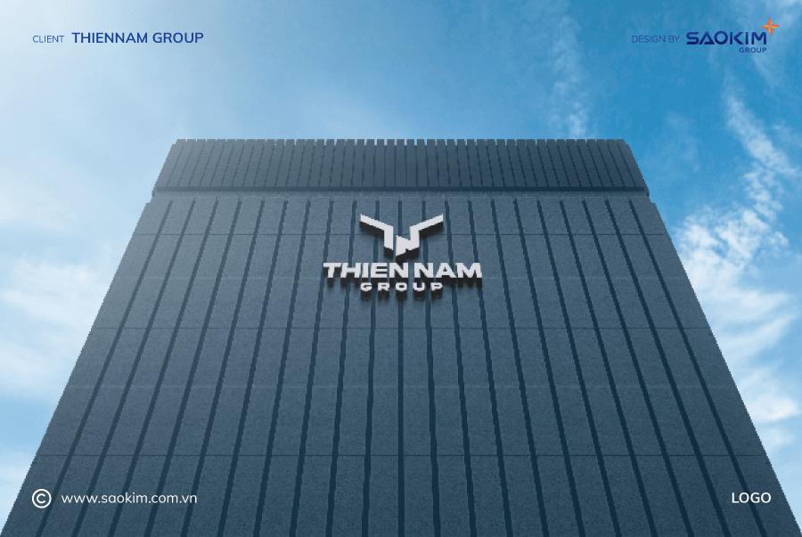 [Saokim.com.vn] Thiết kế Logo Tập đoàn Thiên Nam do Sao Kim Branding thực hiện