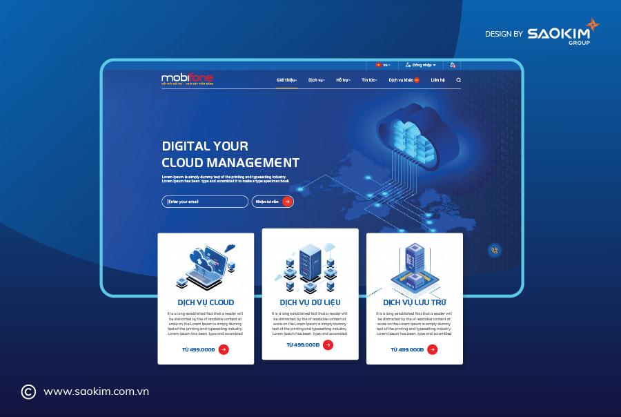 [Saokim.com.vn]  Thiết kế Website cho Mobiphone do Sao Kim thực hiện