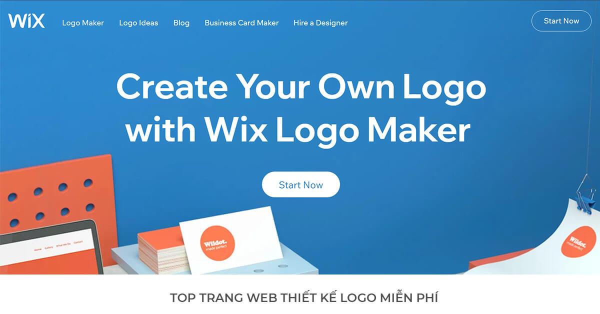 Wix - Trang web thiết kế Logo miễn phí hàng đầu