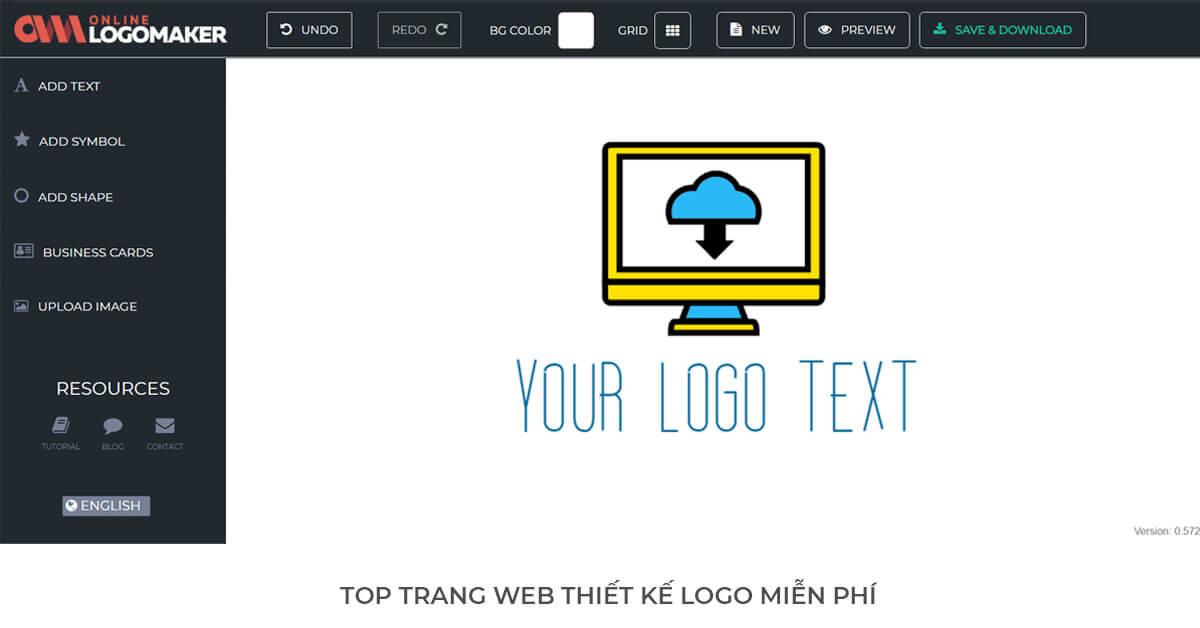 Online Logo Maker - Trang web thiết kế Logo miễn phí