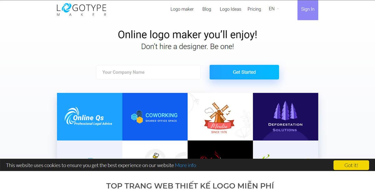 Logo Type Maker - Trang web thiết kế Logo miễn phí