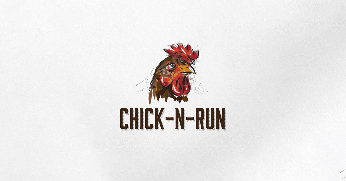 Mẫu Logo con gà đẹp, sáng tạo 11