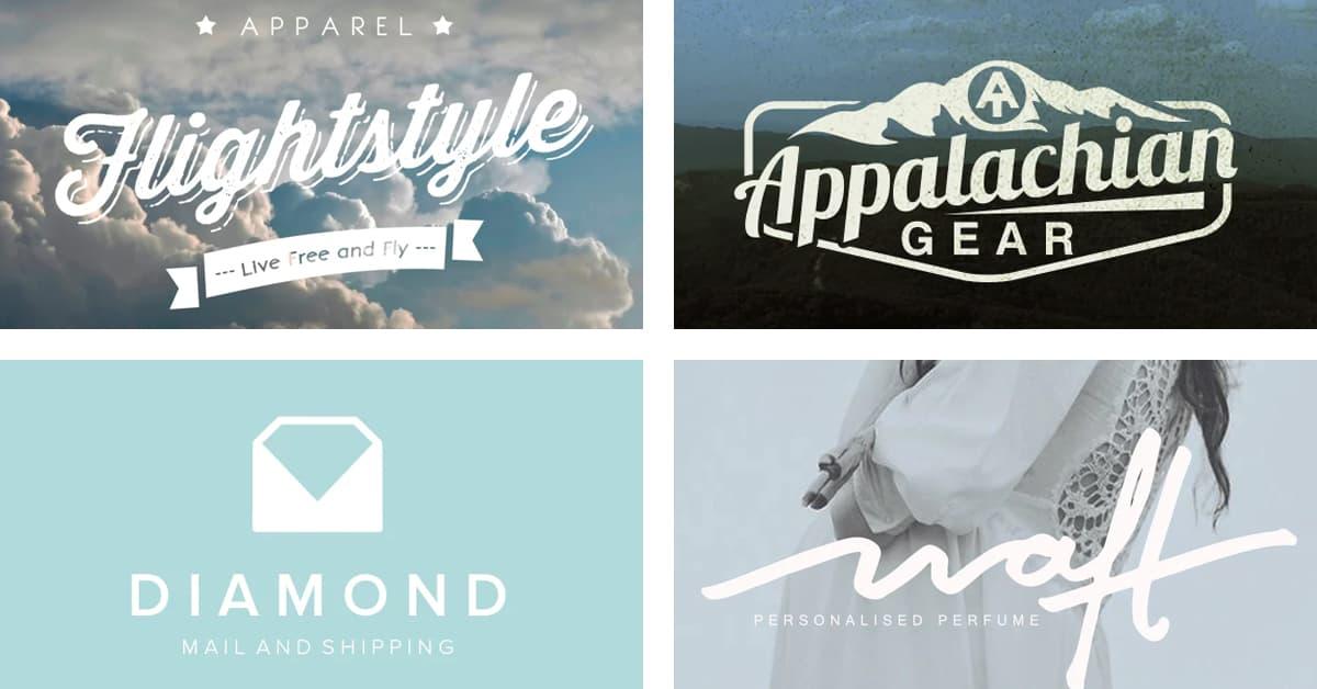 Cách chọn màu Logo: Logo màu trắng