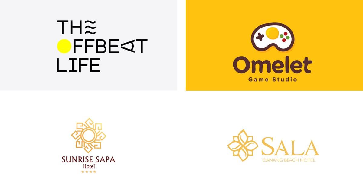 Cách chọn màu Logo: Logo màu vàng