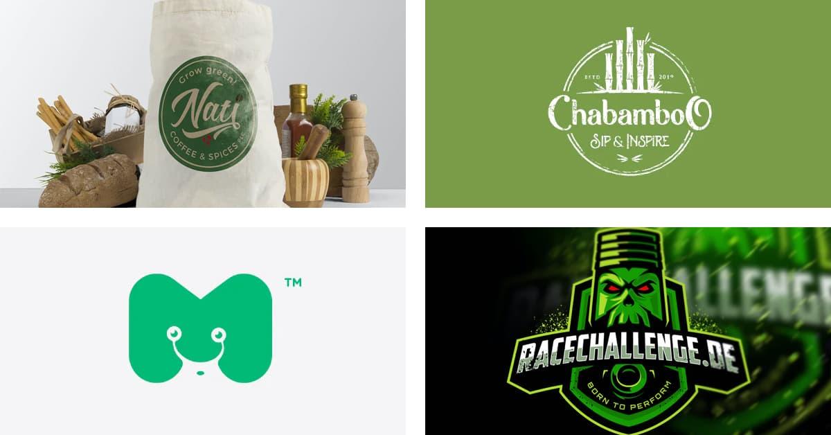 Cách chọn màu Logo: Logo màu xanh lá cây