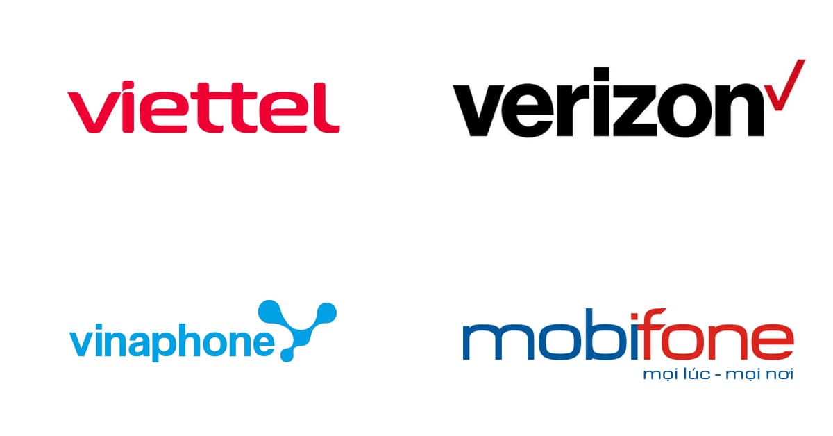 Các logo công ty viễn thông hàng đầu