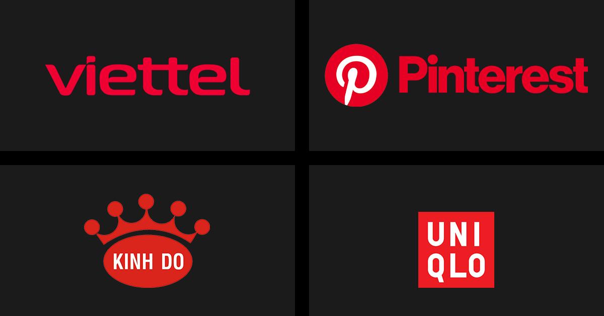 Cách chọn màu Logo: Logo màu đỏ