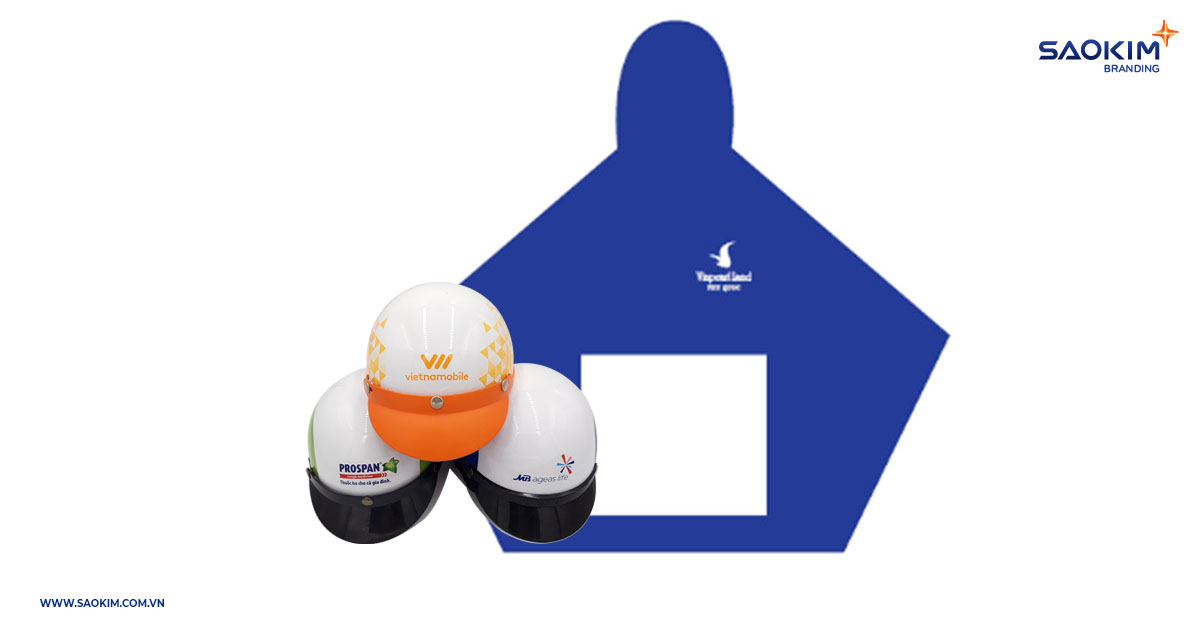 Quà tặng thương hiệu phổ biến #10: Mũ bảo hiểm, áo mưa