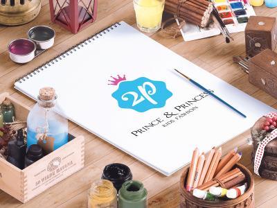 2P - Prince & Princess - Ấn tượng với mẫu thiết kế logo và bộ nhận diện thương hiệu thời trang trẻ em 2P