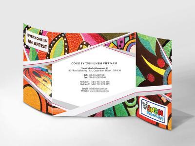 JNBM - Thiết kế brochure tranh bột giấy JNBM
