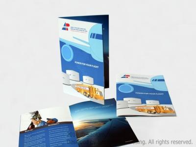 VINAPCO - Thiết kế brochure giới thiệu công ty xăng dầu hàng không VINAPCO