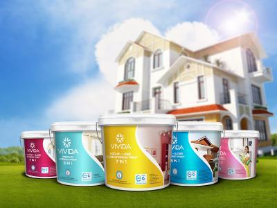 VIVIDA - Sáng tạo tên thương hiệu và thiết kế logo nhận diện thương hiệu sơn VIVIDA
